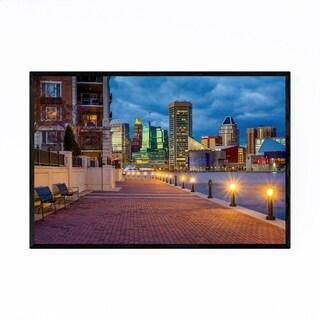 Noir Gallery Inner Harbor Baltimore Skyline Framed Art Print