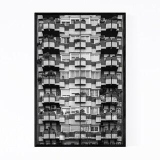 Noir Gallery Black & White Barcelona Spain Framed Art Print