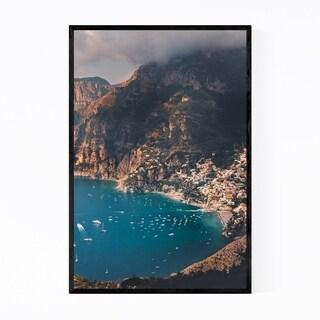 Noir Gallery Amalfi Coast Italy Positano Framed Art Print