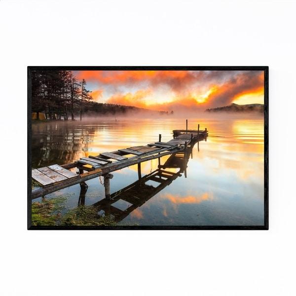 Noir Gallery Bulgaria Mountain Lake Landscape Framed Art Print