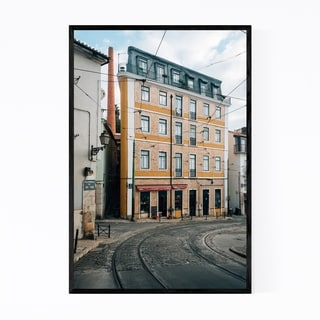 Noir Gallery Alfama Lisbon Portugal Street Framed Art Print