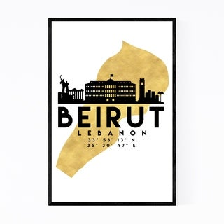 Noir Gallery Minimal Beirut Skyline Framed Art Print