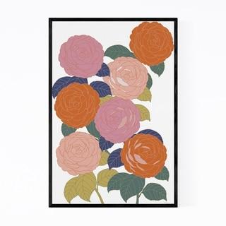 Noir Gallery Camellia Floral Botanical Flower Framed Art Print
