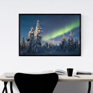 Noir Gallery Aurora Borealis Lapland Finland Framed Art Print