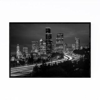 Noir Gallery Seattle Skyline Cityscape Framed Art Print