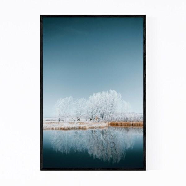 Noir Gallery Snow Winter Landscape Idaho Framed Art Print