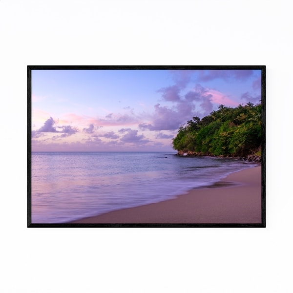 Noir Gallery Saint Lucia Beach Coastal Nature Framed Art Print