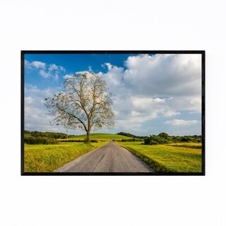 Noir Gallery Farm Country Road and Tree Framed Art Print
