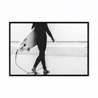 Noir Gallery San Diego Surfer California Framed Art Print