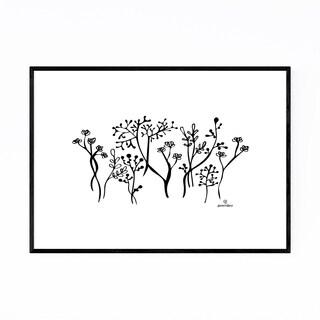 Noir Gallery Botanical Floral Illustration Framed Art Print