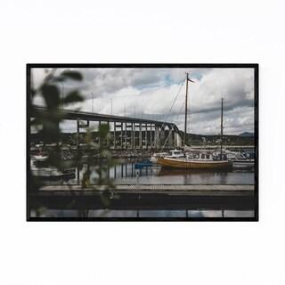 Noir Gallery Finnsnes Harbor Boat Norway Framed Art Print