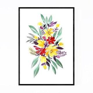 Noir Gallery Floral Watercolor Bouquet Framed Art Print