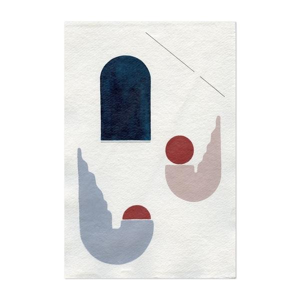 Noir Gallery Abstract Minimal Geometric Line Unframed Art Print Poster