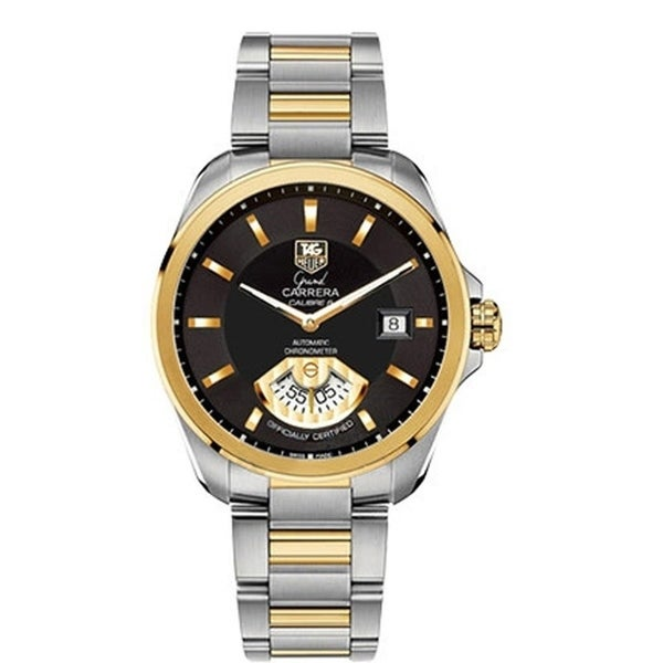 f1effefe6f1 Shop Tag Heuer Men's WAV515A.BD0903 'Grand Carrera' Two-Tone Stainless  Steel Watch - Free Shipping Today - Overstock - 27457393