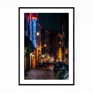 Noir Gallery Rome Italy Trastevere Neon Sign Framed Art Print