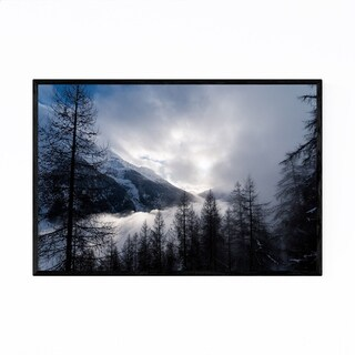 Noir Gallery Swiss Alps Mountains Landscape Framed Art Print