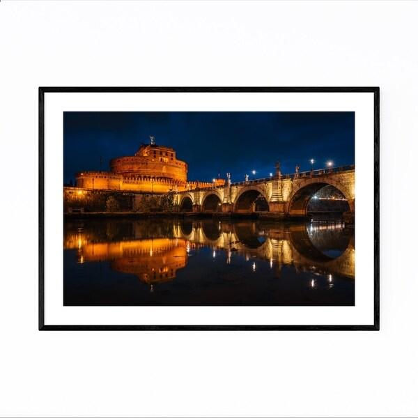 Noir Gallery Rome Italy Castel Sant'Angelo Framed Art Print