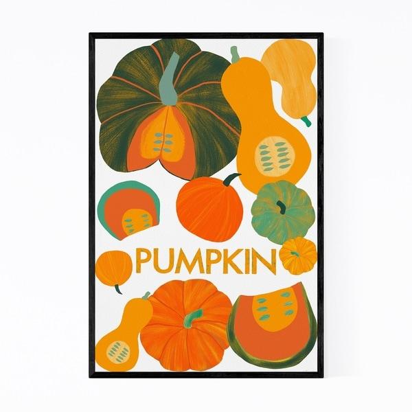 Noir Gallery Pumpkin Autumn Food Kitchen Framed Art Print