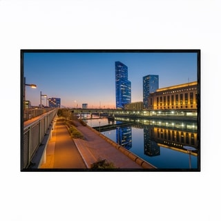 Noir Gallery Philadelphia Skyline Sunset Framed Art Print