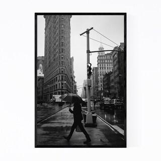 Noir Gallery Rainy Flatiron New York City Framed Art Print