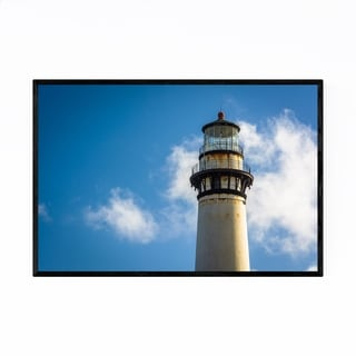 Noir Gallery Coastal California Lighthouse Framed Art Print