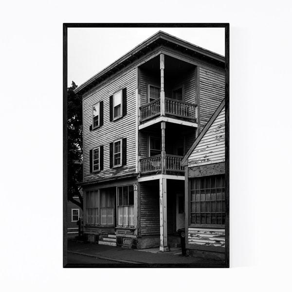 Noir Gallery Salem Massachusetts Old Houses Framed Art Print
