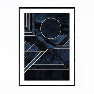 Noir Gallery Modern Art Deco Digital Abstract Framed Art Print