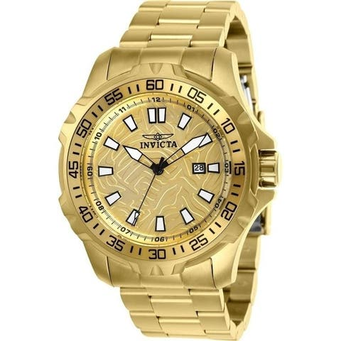 Invicta Men's 25786 'Pro Diver' Gold-Tone Stainless Steel Watch