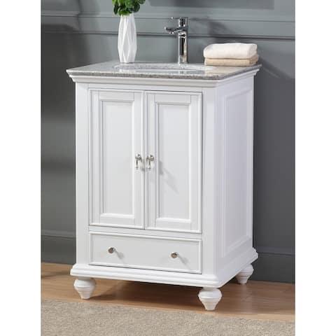 "25"" Tennant Brand Gillian Powder Room White Bathroom Vanity"