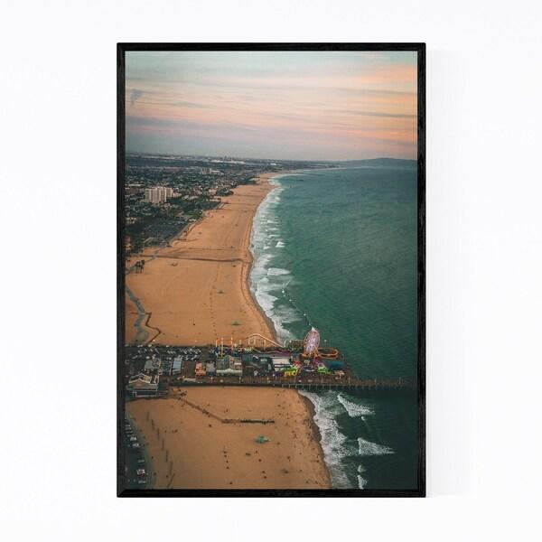 Noir Gallery Santa Monica Pier Los Angeles Framed Art Print