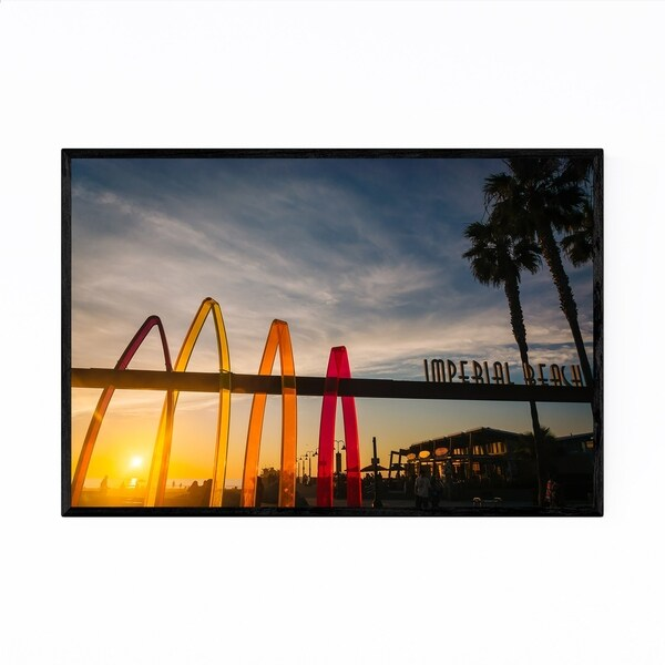 Noir Gallery Imperial Beach Sign San Diego Framed Art Print