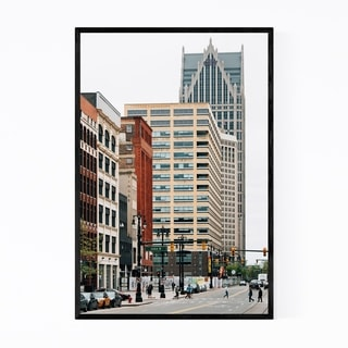 Noir Gallery Detroit, Michigan Downtown Framed Art Print