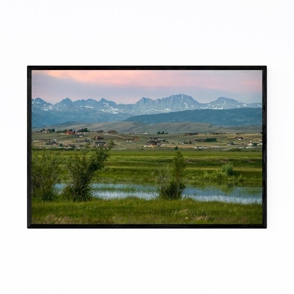 Noir Gallery Wyoming Rural Mountains Nature Framed Art Print
