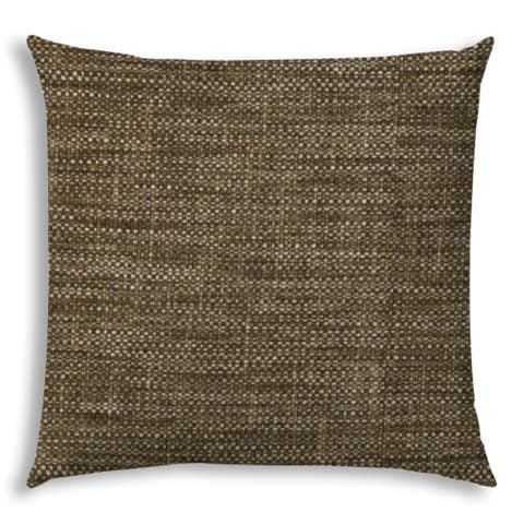 Pacifica Sea Brown Indoor/Outdoor Sofa Pillow with Sewn Closure by Havenside Home