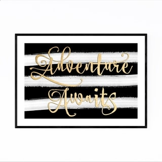 Noir Gallery Gold Adventure Typography Framed Art Print