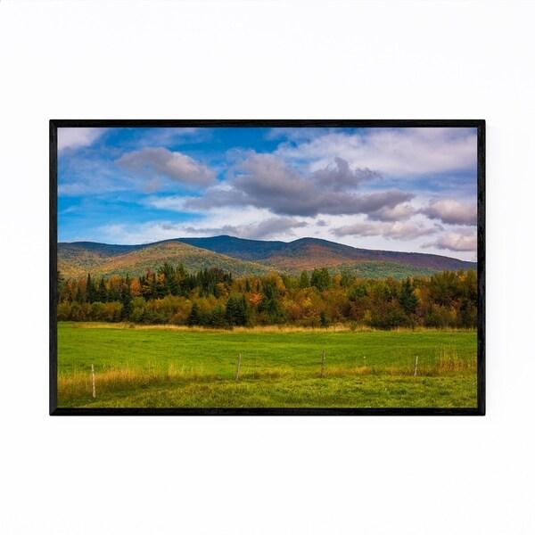 Noir Gallery Rural New Hampshire Mountains Framed Art Print