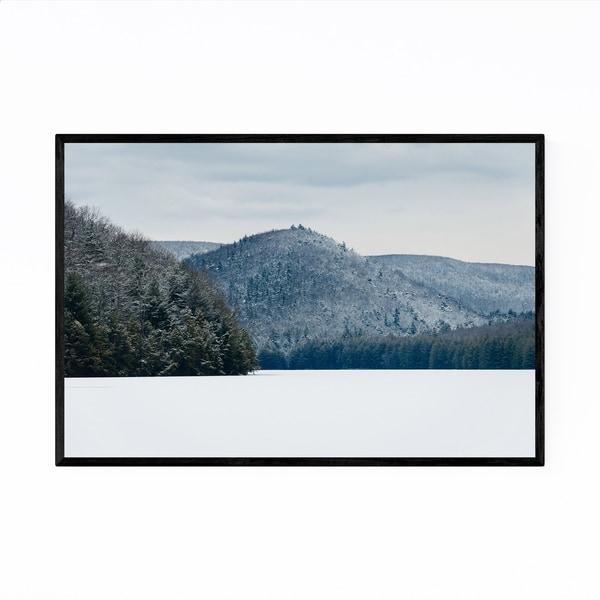Noir Gallery Pennsylvania Snowy Mountains Framed Art Print