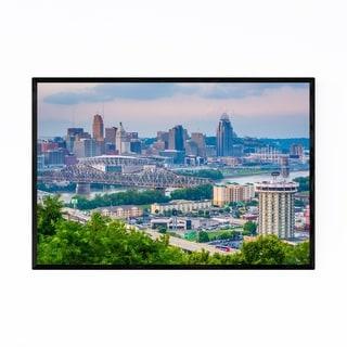 Noir Gallery Cincinnati, Ohio Skyline Framed Art Print