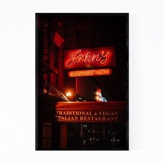 Noir Gallery Pizza Neon Sign New York City Framed Art Print