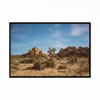 Noir Gallery Joshua Tree Park Cactus Desert Framed Art Print