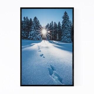 Noir Gallery Sun Trees Forest Switzerland Framed Art Print