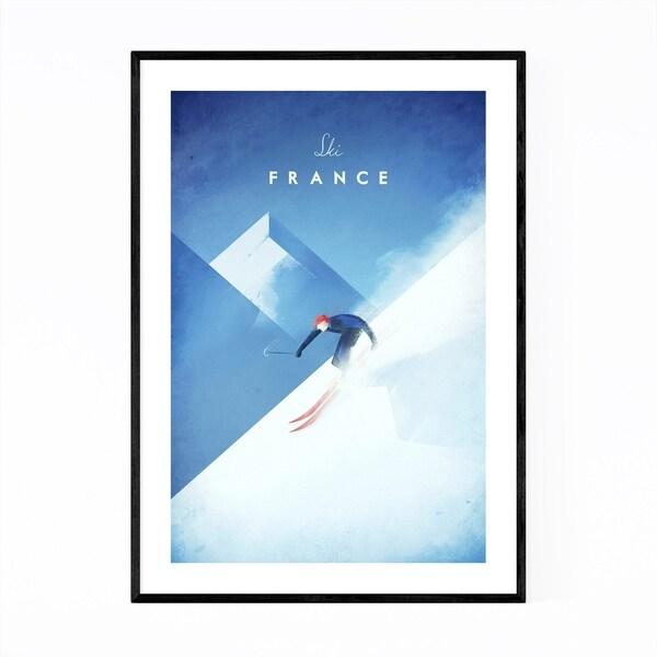 Noir Gallery Minimal Travel French Alps Framed Art Print