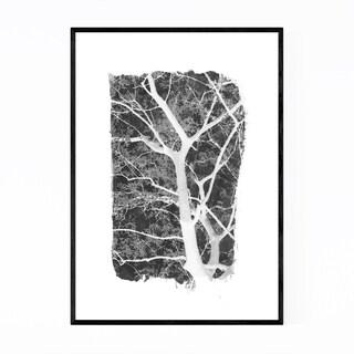 Noir Gallery Minimal Black & White Trees Framed Art Print