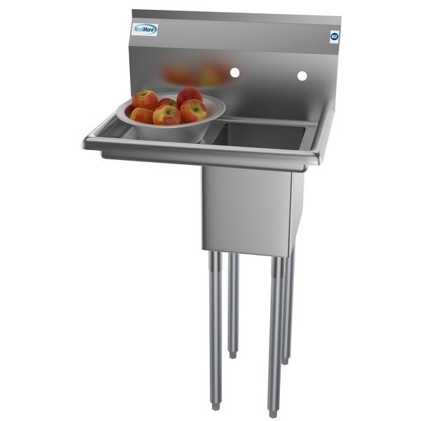 KoolMore 25-Inch Stainless Steel Commercial Kitchen Prep and Utility Sink