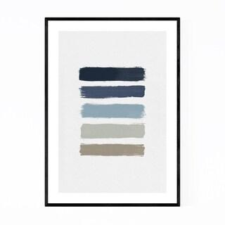 Noir Gallery Abstract Minimal Stripe Painting Framed Art Print