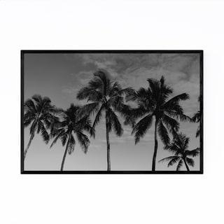 Noir Gallery Palm Trees Beach Coastal Hawaii Framed Art Print
