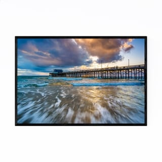 Noir Gallery Newport Beach California Pier Framed Art Print