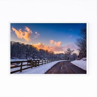 Noir Gallery Winter Farm Sunset Pennsylvania Framed Art Print