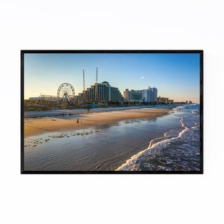 Noir Gallery Coastal Daytona Beach, Florida Framed Art Print
