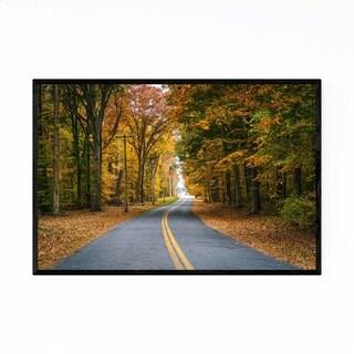 Noir Gallery Autumn Fall Color Road Maryland Framed Art Print